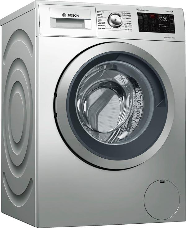 lavadora bosch serie 6 acero WAT2876XES