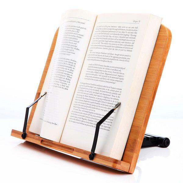 atril para libros bambú