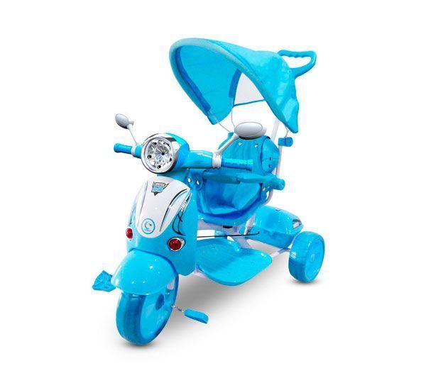 triciclo bebé Vespa azul