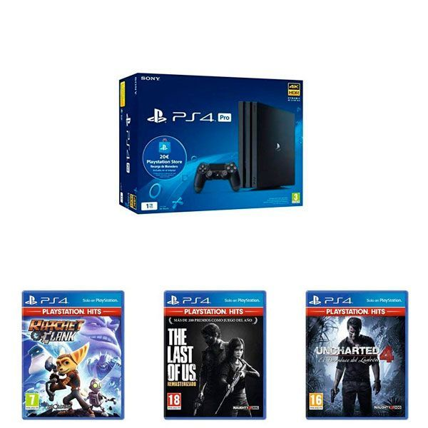 PS4 Pro + The Last of Us + Uncharted 4