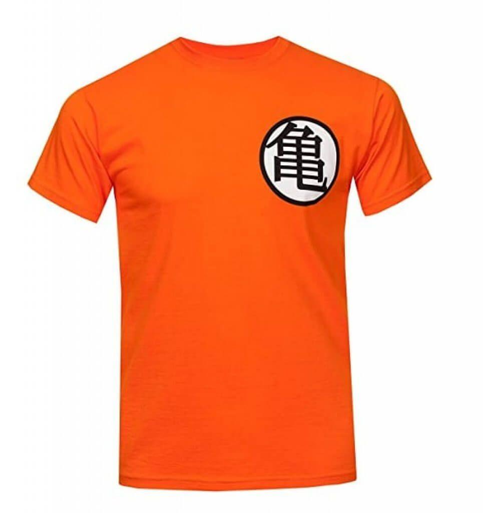 camiseta naranja bola de dragon