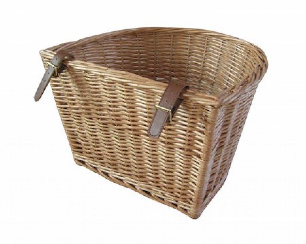 cesta mimbre retro bicicleta