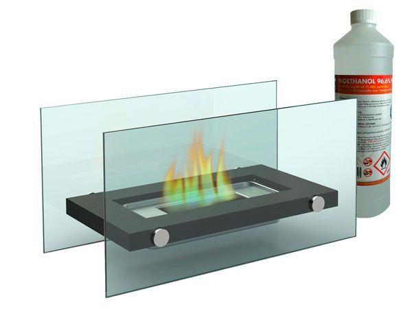 chimenea bioetanol cristal decorativa