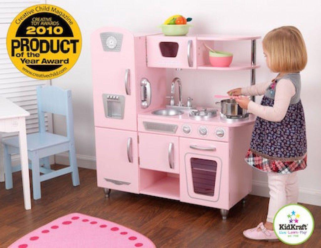 cocina vintage rosa niños niñas