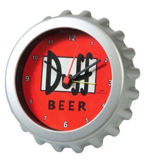 reloj chapa cerveza duff simpsons