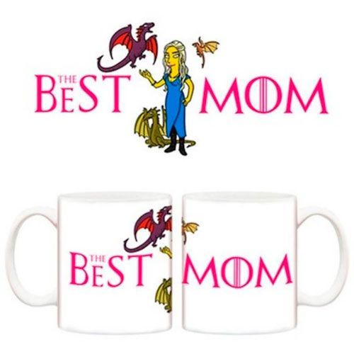 taza madre dragones simpsons mejor mama