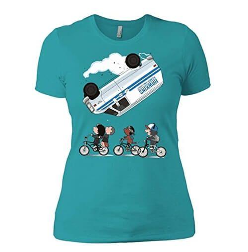 camiseta bicicletas stranger things