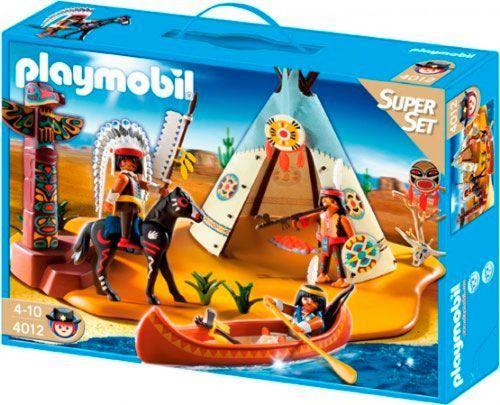 campamento indio de playmobil
