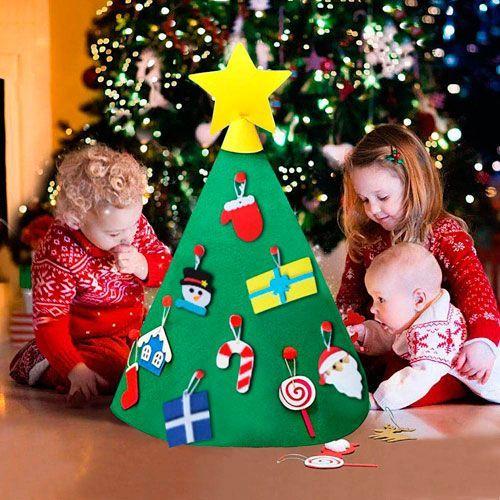 arbol navidad fieltro para ninos