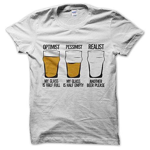 camiseta optimista cerveza