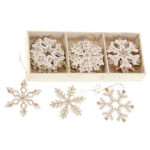 copos de nieve de madera
