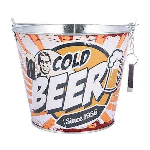 cubo cerveza abridor vintage