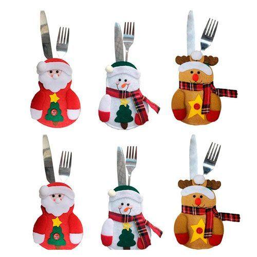 decoración cubiertos navidad