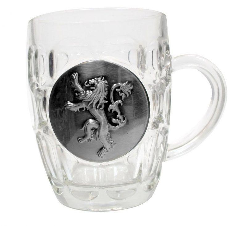 jarra cerveza cristal lannister escudo