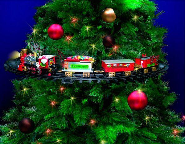 tren navidad colgar