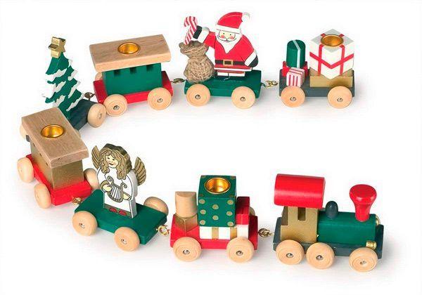 tren navidad madera